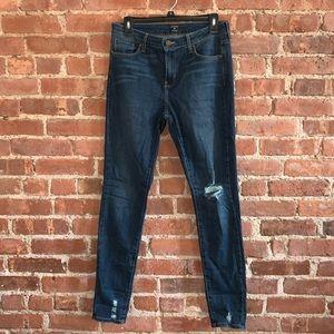 JUST BLACK Alwyn Distressed Hem Skinny Jeans